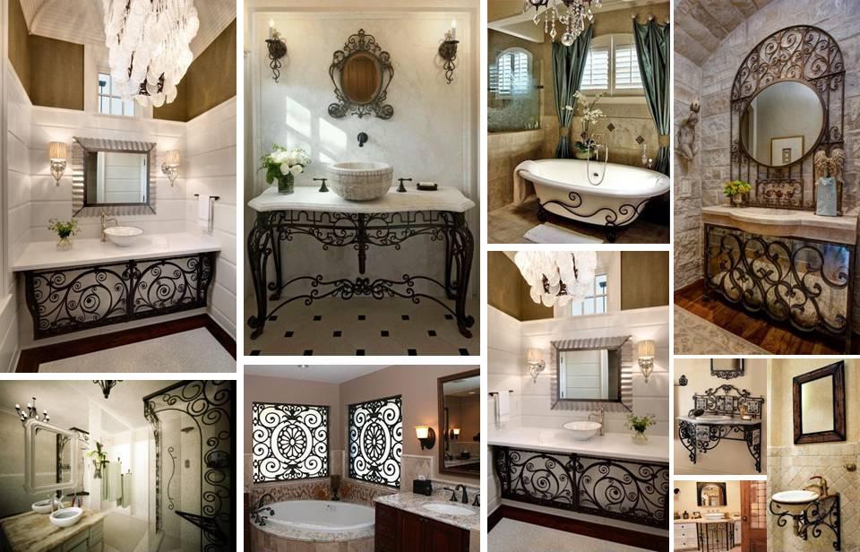 35 Elegant Bathroom Decorating Ideas With Contemporary Wrought Iron Designs & 35 Elegant Bathroom Decorating Ideas With Contemporary Wrought Iron ...