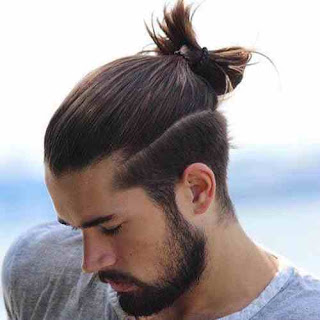 Cute looking Men Long Haircuts with Beard Style