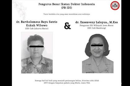 Bertambah Lagi, Dua Dokter Indonesia Meninggal Karena Positif  Virus Corona