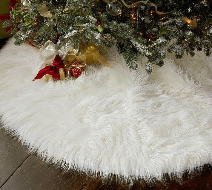 Faux Fur Tree Skirt 50