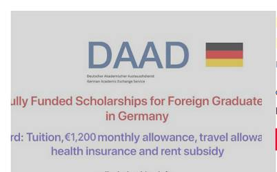 DAAD Fully Funded Postgraduate Scholarships for Developing Countries' Students, 2020