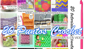 20 Puntos o Puntadas Crochet / Paso a paso en video ~ Colección