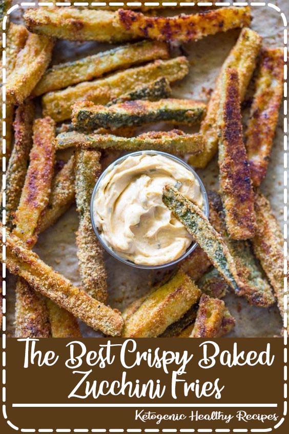 Thinly sliced zucchini dusted in breadcrumbs and baked until crispy and golden is a great  The Best Crispy Baked Zucchini Fries
