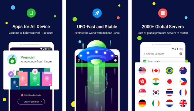UFO VPN Screenshots