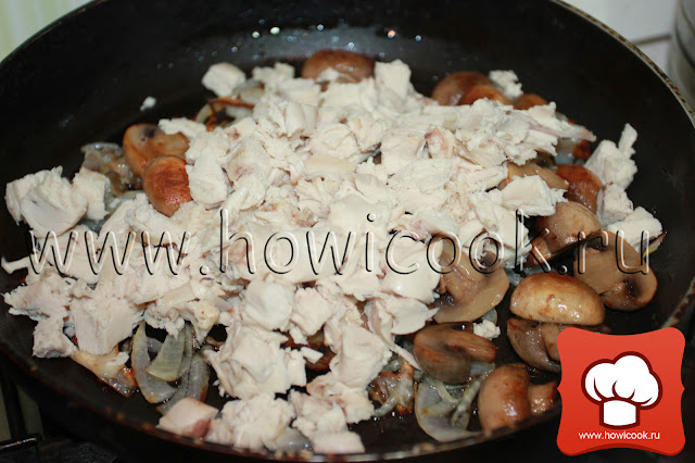 рецепт жюльена с курицей и грибами с пошаговыми фото