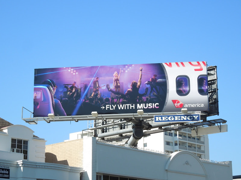 Fly music Virgin America billboard