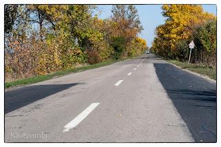 Út valahol Szeged környékén ősszel