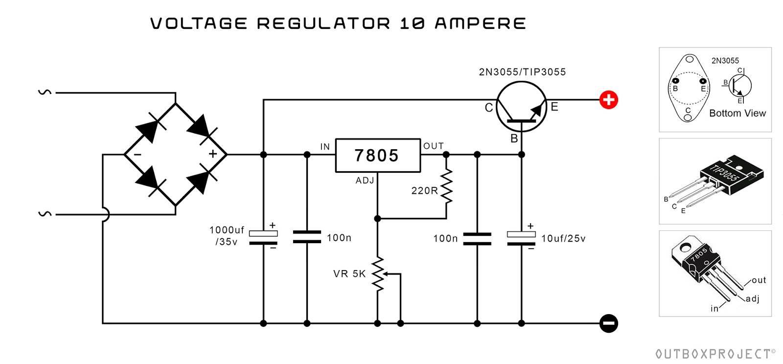 - OutBox Project: POWER SUPPLY REGULATOR 10 AMPERE