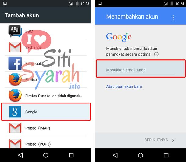 cara ganti akun google di android