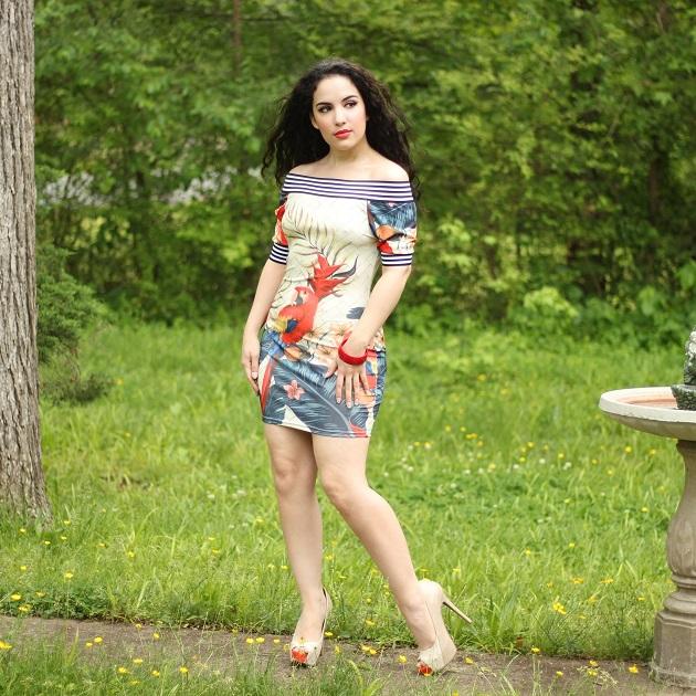 KnowFashionStyle Tropical Print Dress
