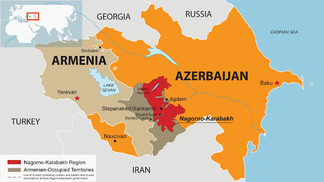 Armenia-Azerbaijan Conflict Map
