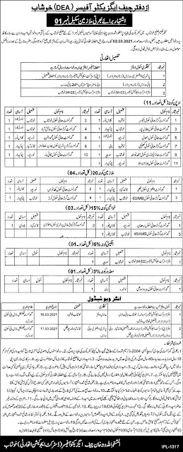 Education Department Jobs 2021 For Sanitary Workers in Khushab