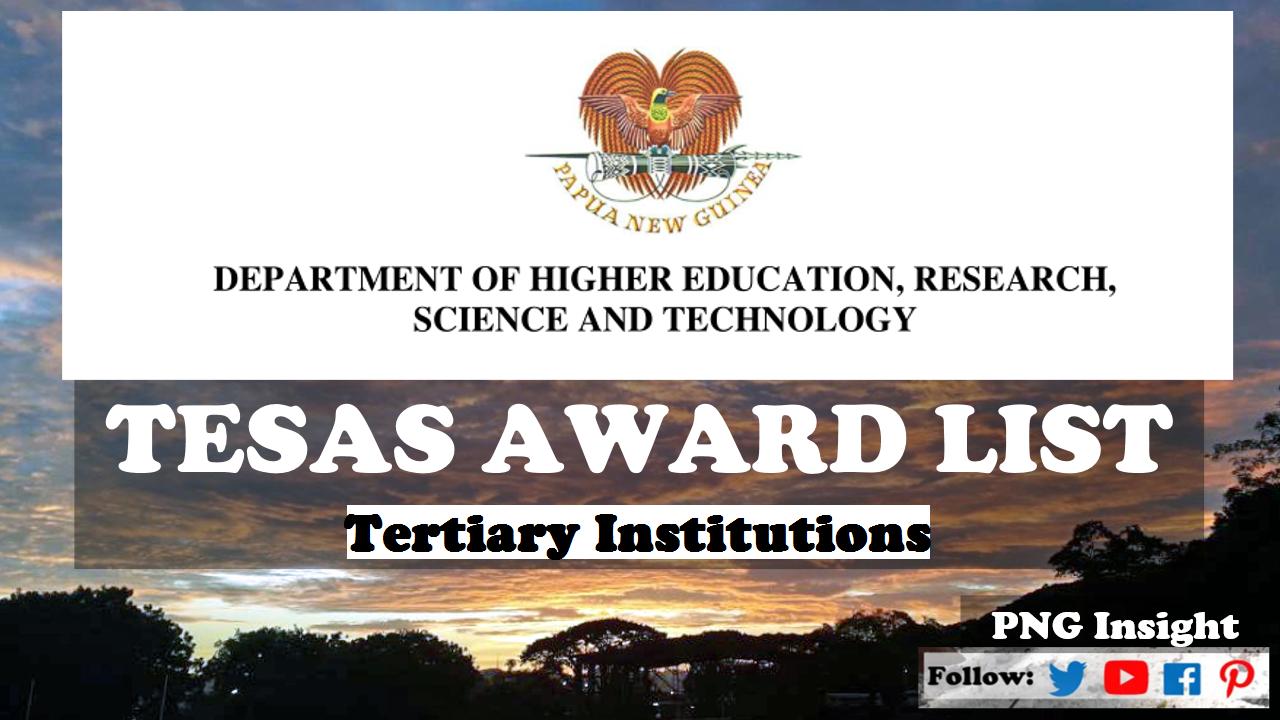 2021 Grade 12 Selection | DHERST TESAS Award List All Unis