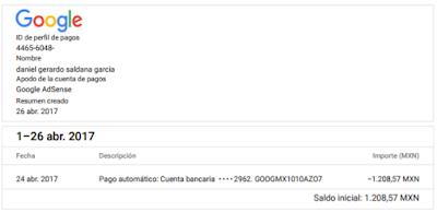Pago Google Adsense