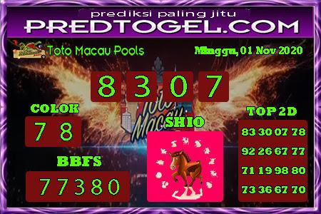 Pred Macau Minggu 01 November 2020