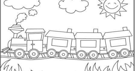 Tren Boyama Görsel Sanatlar Dersi 1 Sinif ödev Kalemi