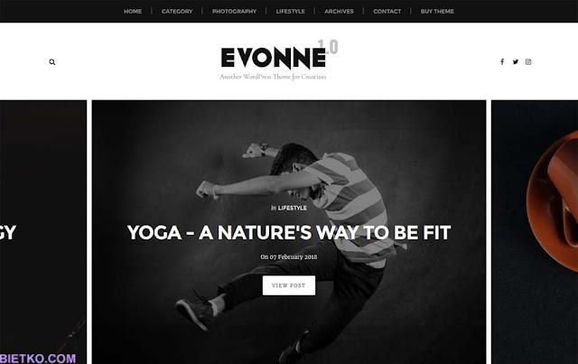 Giao diện theme Evonne premium