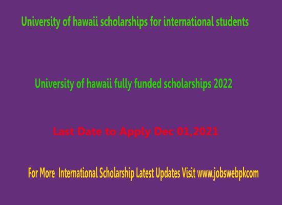 university-of-hawaii-scholarships-2022-usa