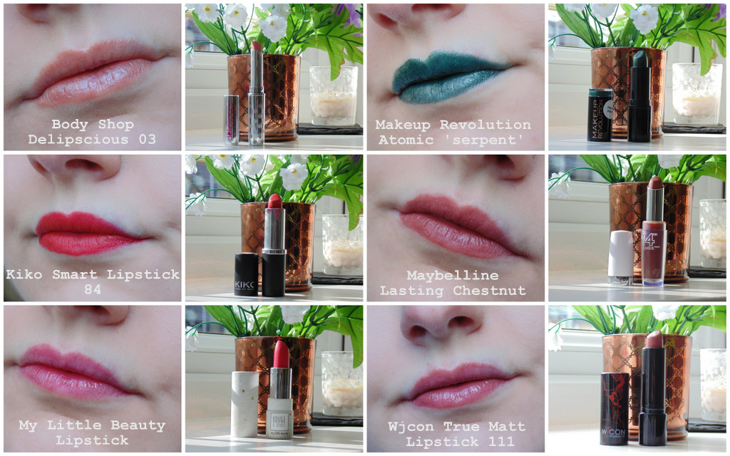 Drugstore Lipstick Collection + Swatches #1