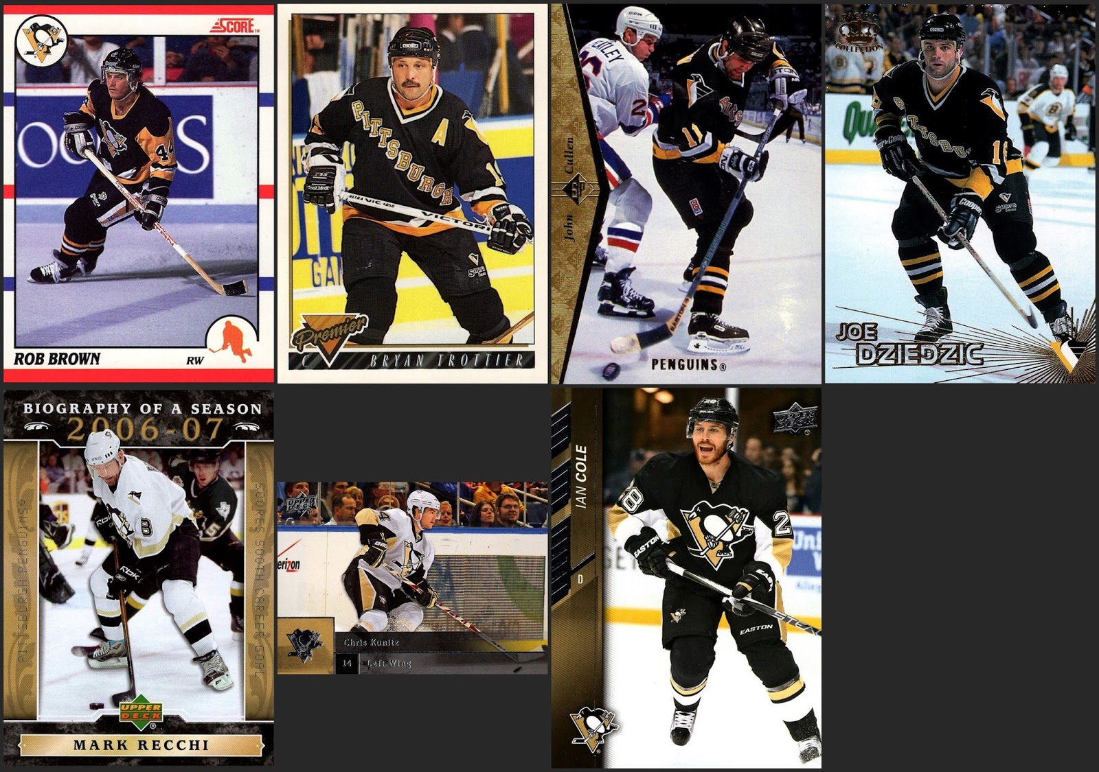73146ed31fb Pittsburgh Penguins - 7 cards 1990-91 Score Canadian  105 1993-94 Topps  Premier  296 1994-95 SP  91 1997-98 Pacific  305 2006-07 Upper Deck  Biography of a ...