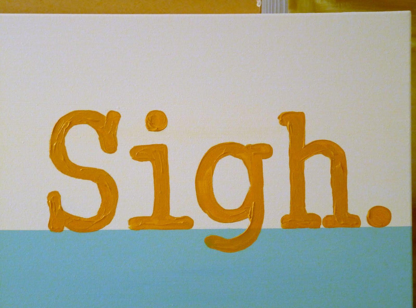 Easy hand lettered art idea