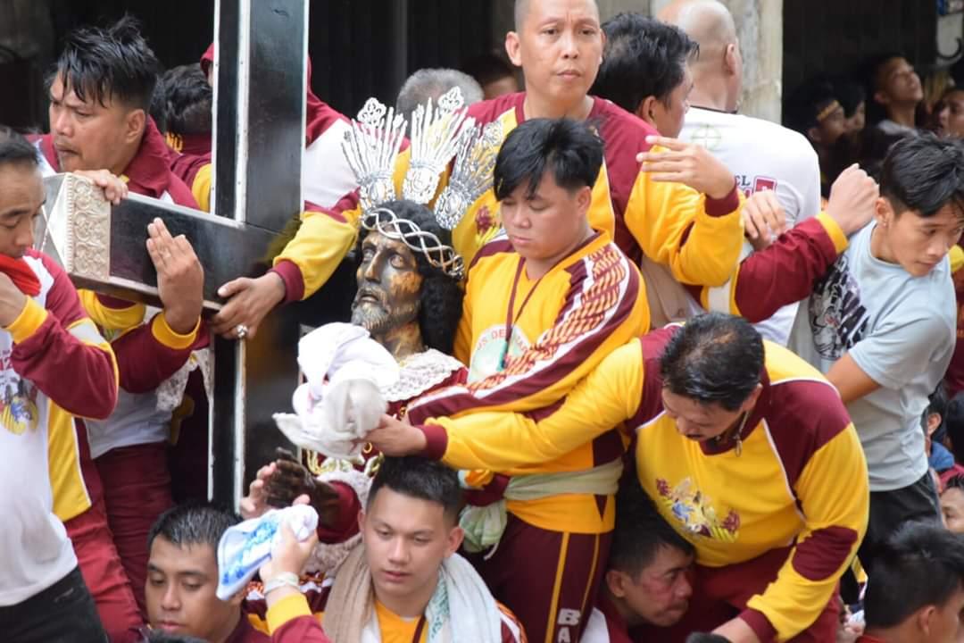 Catholic devotees during the Black Nazarene procession on January 9, 202
