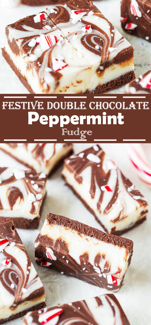 Double Chocolate Peppermint Fudge