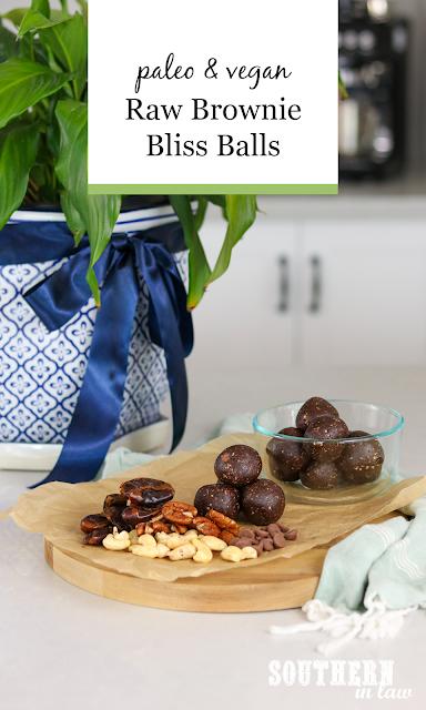 Raw Brownie Bliss Balls Recipe - gluten free, vegan, paleo, grain free