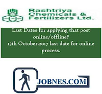 Maharashtra Rashtriya Chemicals and Fertilizers Limited Recruitment 2017  for various posts  apply online here