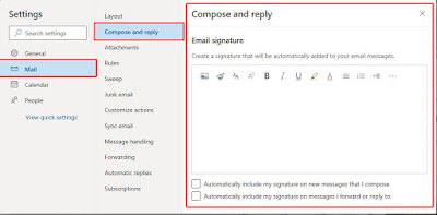 add signature in outlook