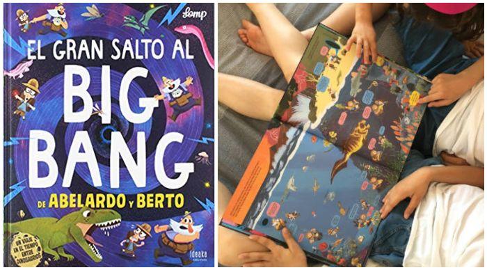 Libro informativo prehistoria El gran salto al big bang de abelardo y berto