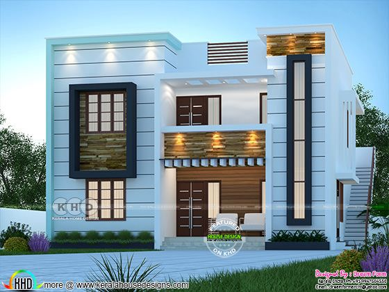 Front elevation of 2250 sq-ft modern house