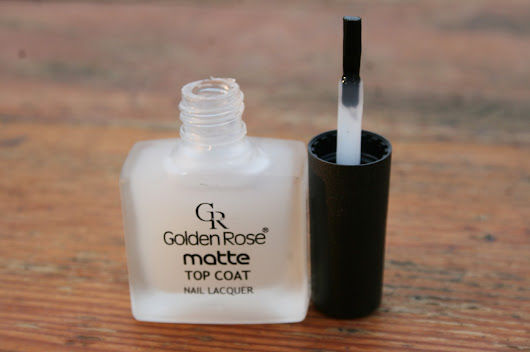 Moje lakierowe testy : Golden Rose Matte Top Coat