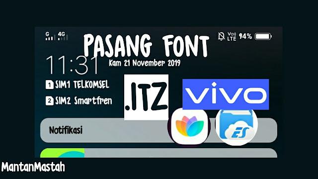 memasang font itz di hp vivo semua tipe