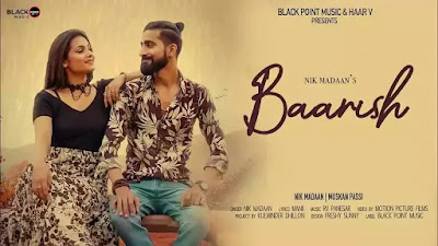 Checkout Baarish Lyrics sung by Nikk Madaan and written by Manii