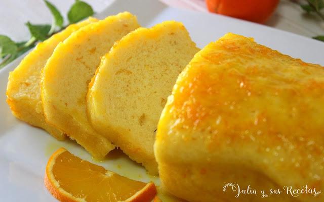 Bizcocho de naranja al microondas. Julia y sus recetas