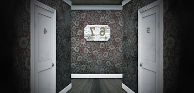 You're looking into a mirror in the hallway. In which direction do you have to turn to get to Martha's room? (image)