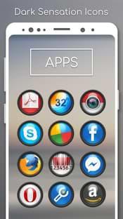 Dark Sensation -Icon Pack Screenshot