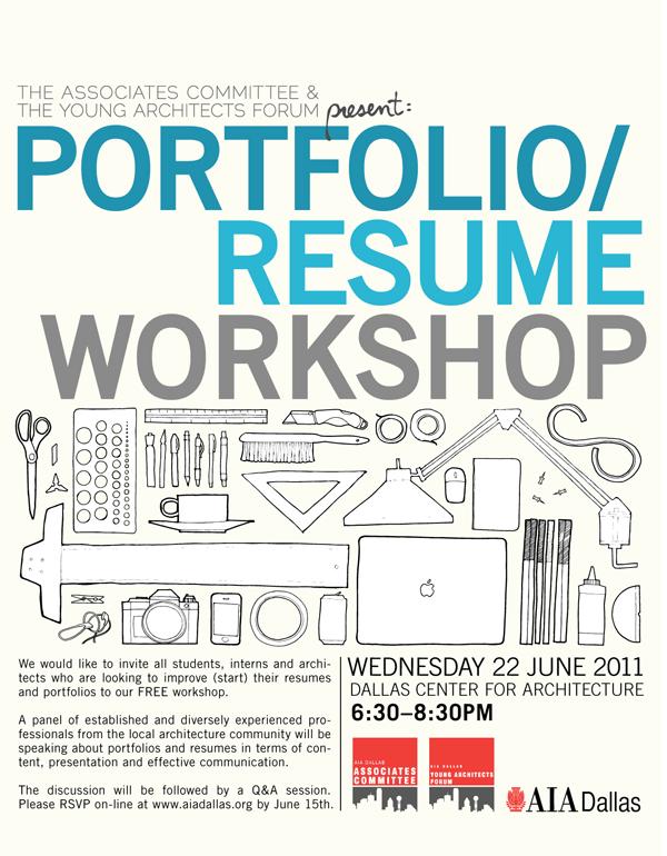 AIA Dallas Associates Portfolio / Resume Workshop - resume workshop