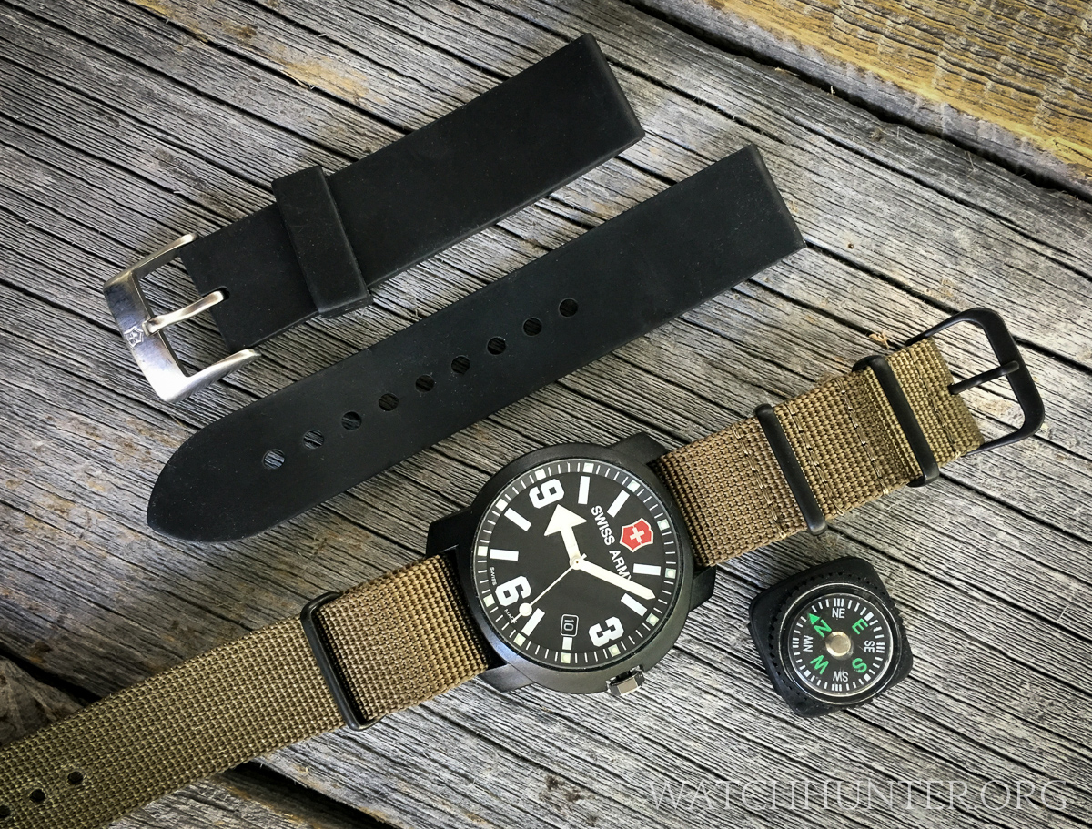 20mm TIMEWHEEL Black Italian Rubber Watch Band Fits Men's ...