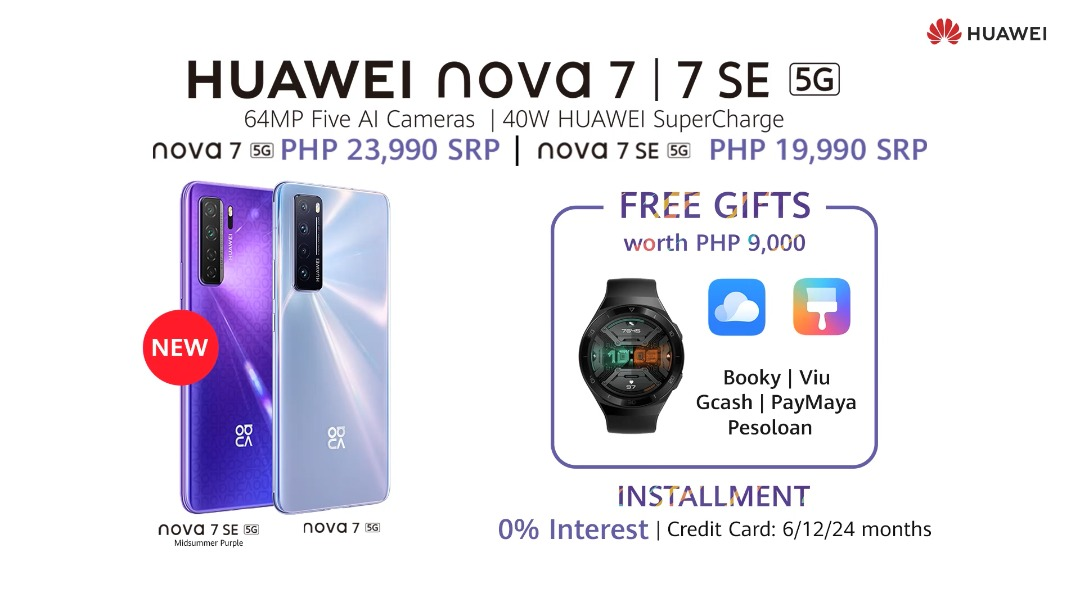 Huawei's nova 7 5G and FreeBuds 3i are now available to