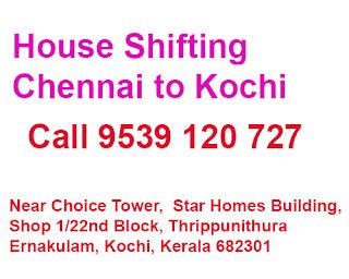 chennai to kochi movers service