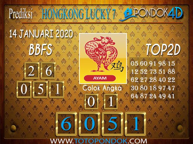 Prediksi Togel HONGKONG LUCKY7 PONDOK4D 14 JANUARI 2020