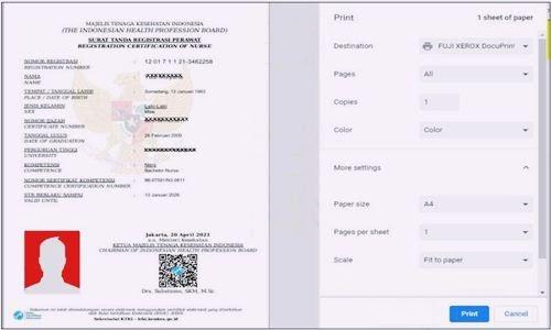 Foto Review Cara Mudah Cetak e-STR atau Surat Tanda Registrasi Elektronik Resmi Via Aplikasi STR Online Versi 2.0. KTKI di Kemenkes Terbaru - www.herusetianto.com