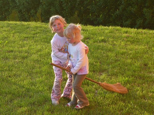 Buiten spelen is goed voor kinderen.