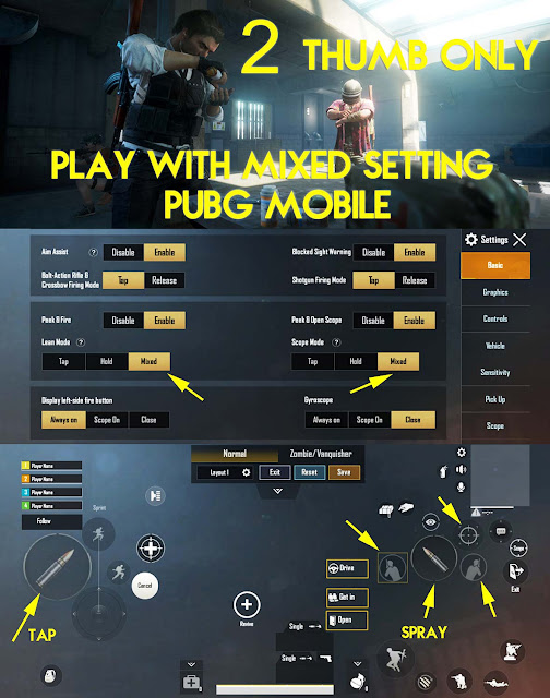 fungsi mixed setting control pubg mobile