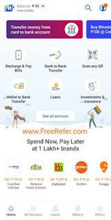 Mobikwik app Home screenshot