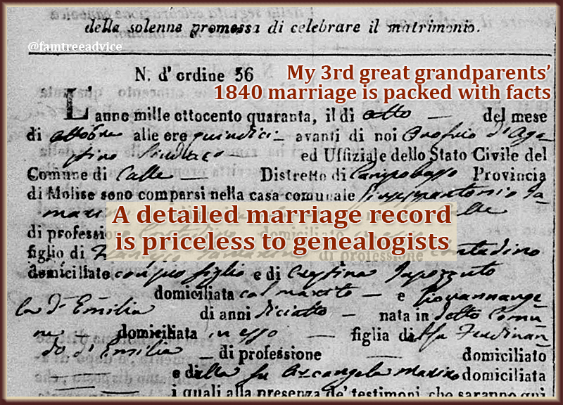 Nothing makes me happier than a set of marriage documents for my 2nd, 3rd, or 4th great grandparents.