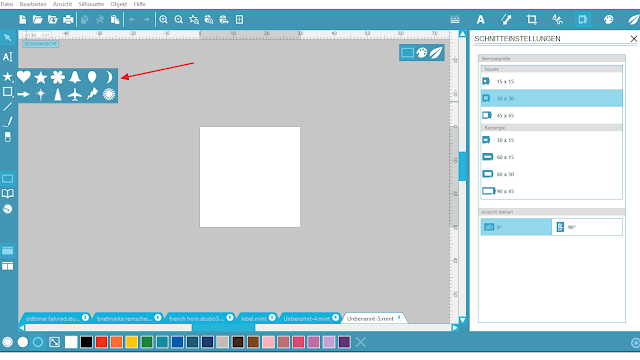 Screenshot Mint Studio Software: Formen