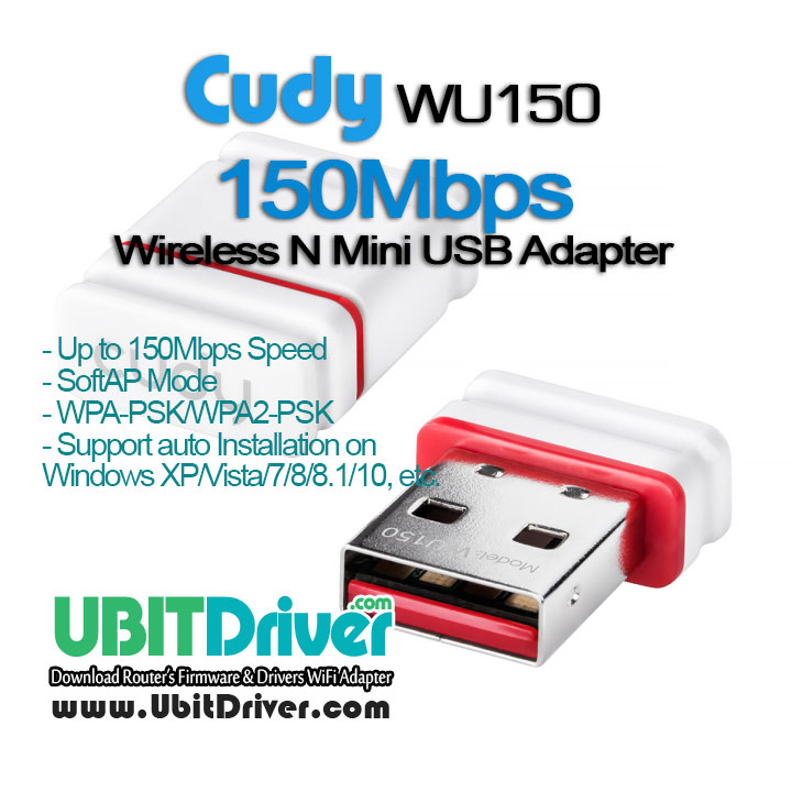 Cudy Drivers WU150 Wireless N Mini USB Adapter Download